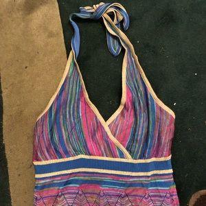 Vintage Y2K Dress Colorful Summer Print Size Mediu
